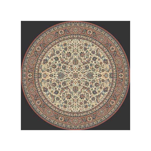 Lano luxusní orientální koberce Kusový koberec Kasbah 13720-471 kruh, kusových koberců Ø 170% Béžová - Vrácení do 1 roku ZDARMA vč. dopravy