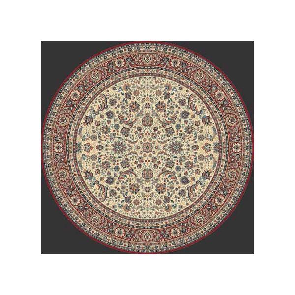 Lano luxusní orientální koberce Kusový koberec Kasbah 13720-475 kruh, kusových koberců Ø 170% Červená, Béžová - Vrácení do 1 roku ZDARMA vč. dopravy