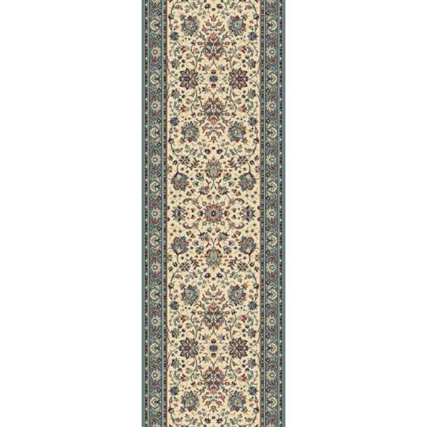 Lano luxusní orientální koberce Běhoun Kasbah 12246-479, Šířka běhounu šíře 50 cm Modrá, Béžová - Vrácení do 1 roku ZDARMA