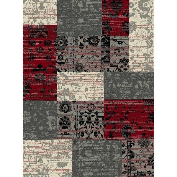 Hanse Home Collection koberce Kusový koberec Prime Pile 101188 Patchwork Optik Rot/Grau/Beige, kusových koberců 60x110 cm% Šedá - Vrácení do 1 roku ZDARMA vč. dopravy