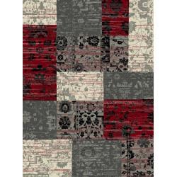 Kusový koberec Prime Pile 101188 Patchwork Optik Rot/Grau/Beige