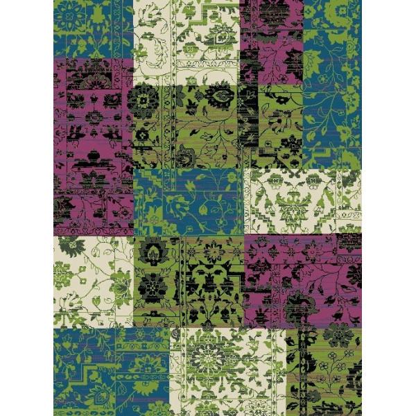 Hanse Home Collection koberce Kusový koberec Prime Pile 101187 Patchwork Optik Blau/Beige/Grün, koberců 60x110 cm Zelená, Modrá, Fialová - Vrácení do 1 roku ZDARMA