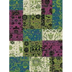 Kusový koberec Prime Pile 101187 Patchwork Optik Blau/Beige/Grün
