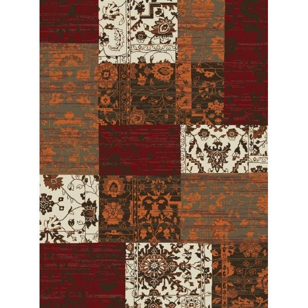 Hanse Home Collection koberce Kusový koberec Prime Pile 101186 Patchwork Optik Terra/Rot/Beige/Braun, kusových koberců 60x110 cm% Oranžová - Vrácení do 1 roku ZDARMA vč. dopravy