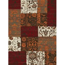 Kusový koberec Prime Pile 101186 Patchwork Optik Terra/Rot/Beige/Braun