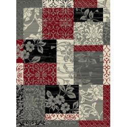 Kusový koberec Prime Pile 101184 P. Optik Bordüre Rot/Grau/Beige/Schwarz