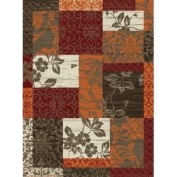 Kusový koberec Prime Pile 101182 P. Optik Bordüre Terra/Rot/Beige/Braun