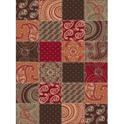 Kusový koberec Prime Pile 101091 Patchwork Optik Terra/Braun/Rot