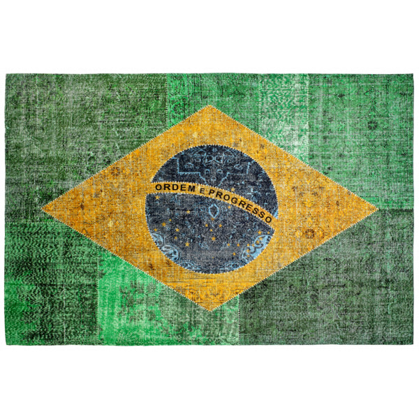 Obsession koberce Kusový koberec Torino flags 420 BRAZIL, kusových koberců 120x170 cm% Zelená - Vrácení do 1 roku ZDARMA vč. dopravy