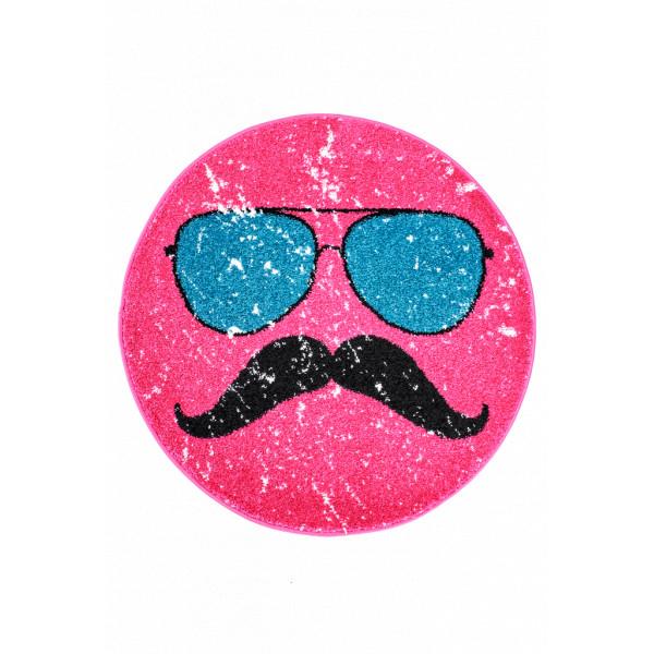 Obsession koberce Kusový koberec Hipster 611 PINK ROUND, kusových koberců 80x80 cm% Růžová - Vrácení do 1 roku ZDARMA vč. dopravy