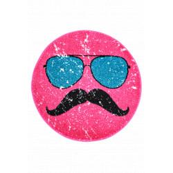 Kusový koberec Hipster 611 PINK ROUND