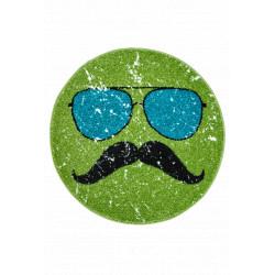 Kusový koberec Hipster 611 GREEN ROUND