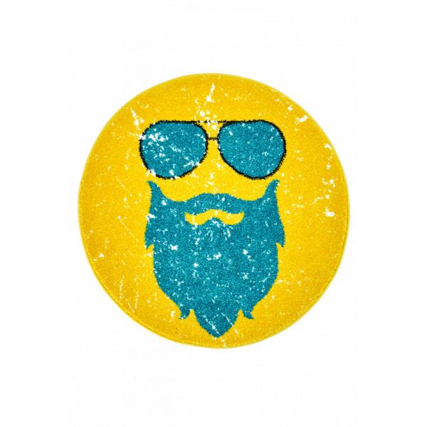 Obsession koberce Kusový koberec Hipster 612 GINGER ROUND, kusových koberců 80x80 cm% Žlutá - Vrácení do 1 roku ZDARMA vč. dopravy