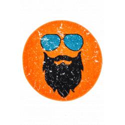 Kusový koberec Hipster 612 ORANGE ROUND