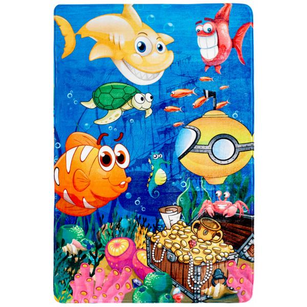 Obsession koberce Kusový koberec Fairy tale 638 UNDER THE SEA, kusových koberců 100x150 cm% Modrá - Vrácení do 1 roku ZDARMA vč. dopravy