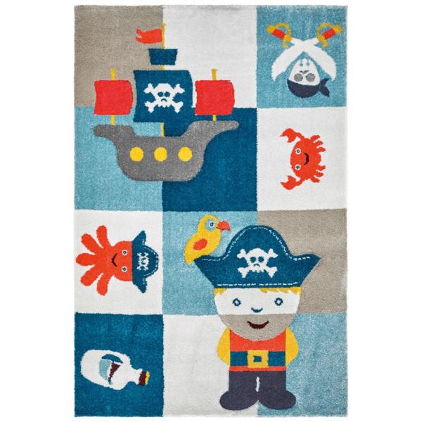 Obsession koberce Kusový koberec Broadway kids 472 PIRAT, kusových koberců 120x170 cm% Modrá - Vrácení do 1 roku ZDARMA vč. dopravy