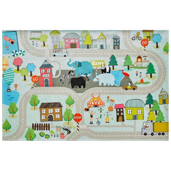Obsession koberce Kusový koberec Torino kids 231 STREET, kusových koberců 80x120 cm% Hnědá - Vrácení do 1 roku ZDARMA vč. dopravy