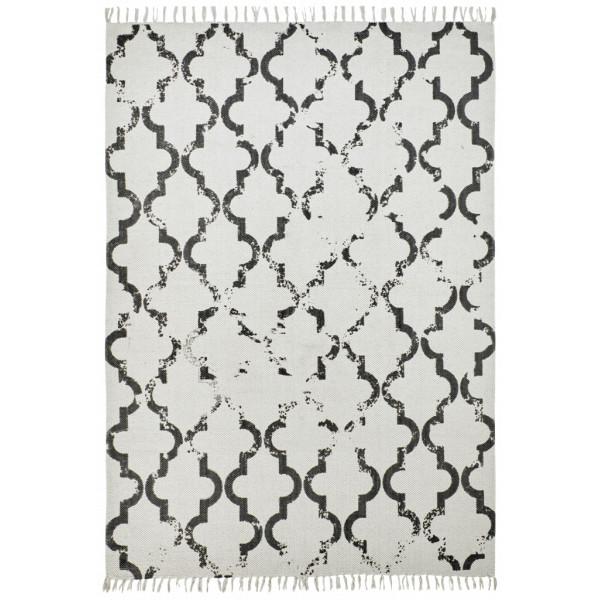 Obsession koberce Ručně tkaný kusový koberec Stockholm 341 ANTHRACITE, koberců 60x110 cm Bílá, Šedá - Vrácení do 1 roku ZDARMA