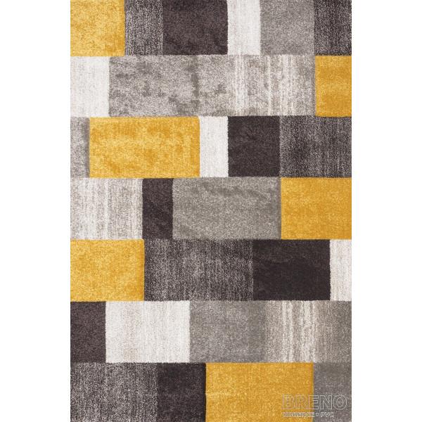 Sintelon koberce Kusový koberec Vegas Home 30/BYY, kusových koberců 66x110 cm% Žlutá - Vrácení do 1 roku ZDARMA vč. dopravy