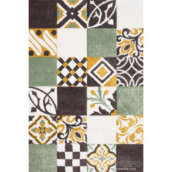 Sintelon koberce Kusový koberec Vegas Home 38/ZYZ, kusových koberců 66x110 cm% Zelená - Vrácení do 1 roku ZDARMA vč. dopravy