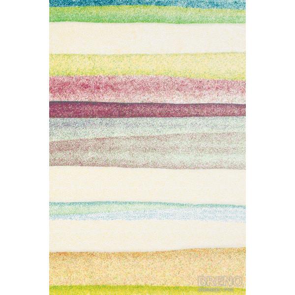 Sintelon koberce Kusový koberec Vegas Pop 38/VYV, kusových koberců 80x150 cm% Žlutá - Vrácení do 1 roku ZDARMA vč. dopravy