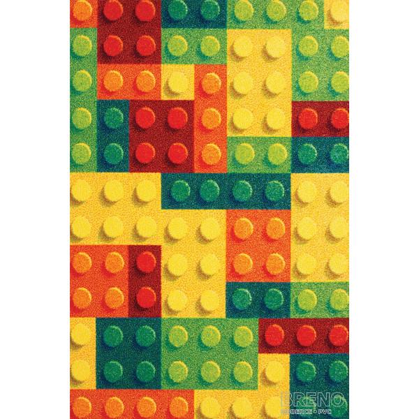 Sintelon koberce Kusový koberec Play 95/YCY, kusových koberců 80x150 cm% Žlutá - Vrácení do 1 roku ZDARMA vč. dopravy