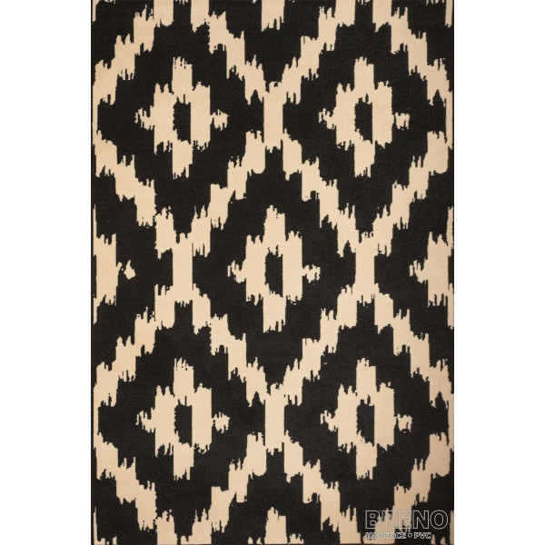 Sintelon koberce Kusový koberec Practica A4/MVM, 70x140 cm% Černá - Vrácení do 1 roku ZDARMA vč. dopravy