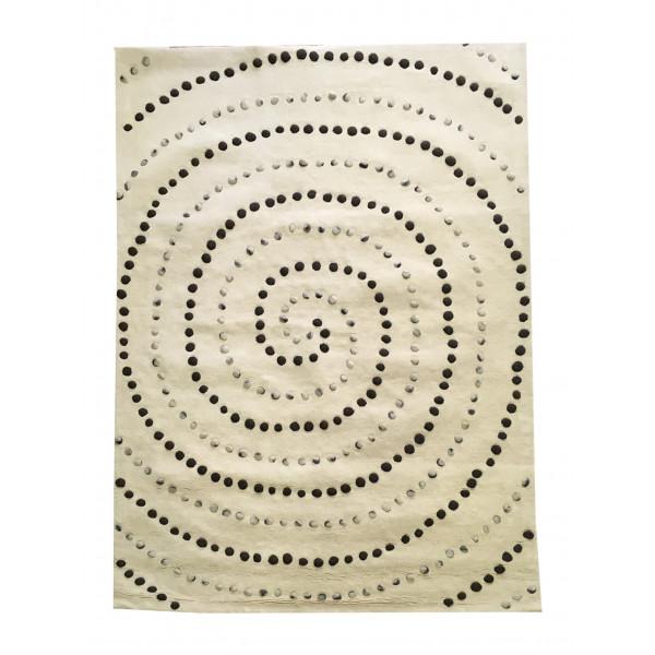 BO-MA koberce Ručně všívaný koberec Caroline (100% vlna, Indie, Panipat) - výprodej, kusových koberců 160x230 cm Sleva 54%% Bílá, Béžová - Vrácení do 1 roku ZDARMA vč. dopravy