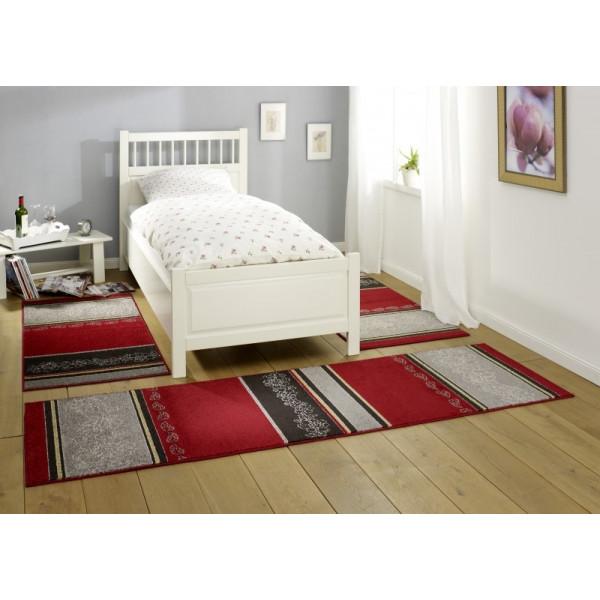 Hanse Home Collection koberce Kusový koberec Lectus 101546, Rozměr (3 díly; 2x 70x140 cm cm% Červená - Vrácení do 1 roku ZDARMA vč. dopravy