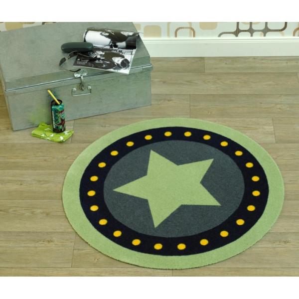 Zala Living - Hanse Home koberce Kusový koberec Deko round 102304, koberců 100 cm kruh Zelená - Vrácení do 1 roku ZDARMA