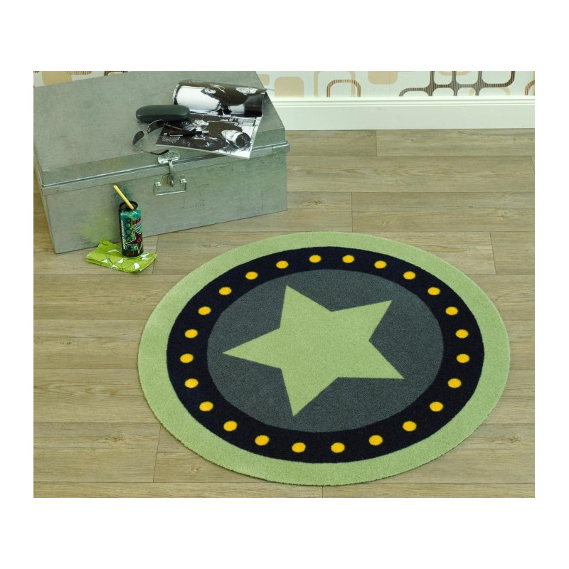Protiskluzový kusový koberec Deko round 102304