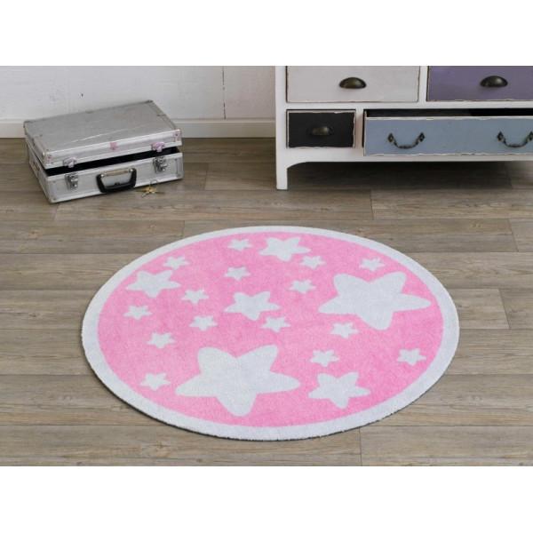 Zala Living - Hanse Home koberce Kusový koberec Deko round 101946, koberců 100 cm kruh Růžová - Vrácení do 1 roku ZDARMA