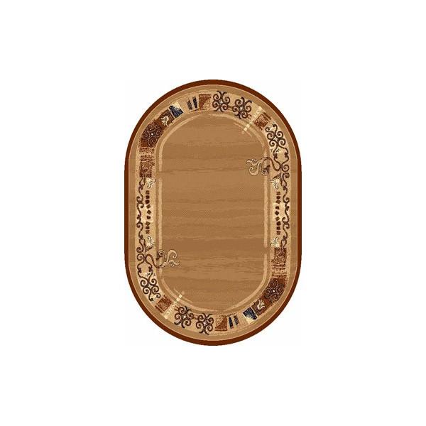 Sintelon koberce Kusový koberec ovál Practica 40 BPD, koberců 190x280 cm Hnědá - Vrácení do 1 roku ZDARMA