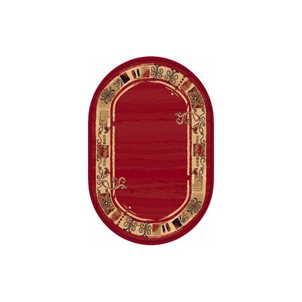 Sintelon koberce Kusový koberec ovál Practica 40 CPC, koberců 160x230 cm Červená - Vrácení do 1 roku ZDARMA