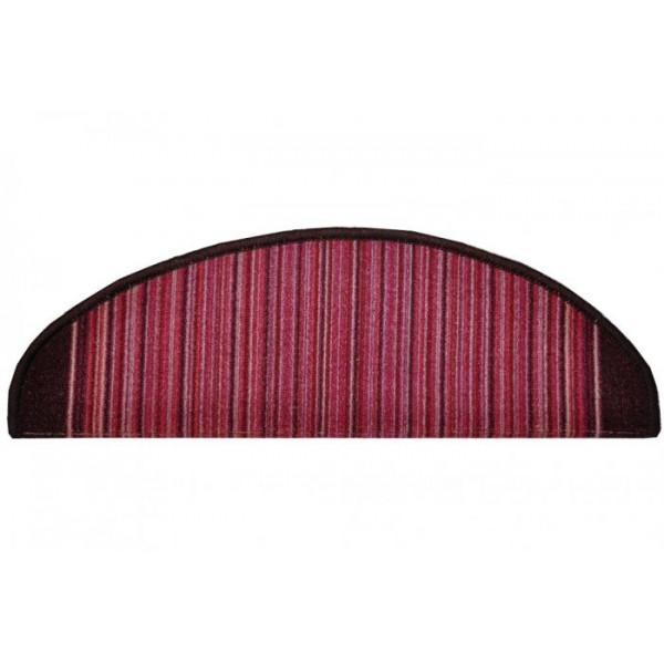 Vopi koberce Nášlapy na schody fialová Carnaby, kusových koberců 24 x 65 cm půlkruh% Fialová - Vrácení do 1 roku ZDARMA vč. dopravy