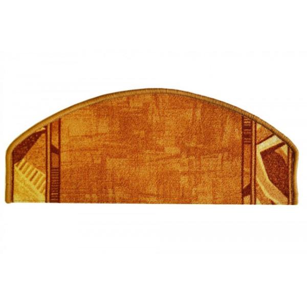 Vopi koberce Nášlapy na schody béžová Corrido, koberců 28 x 65 cm půlkruh Béžová - Vrácení do 1 roku ZDARMA