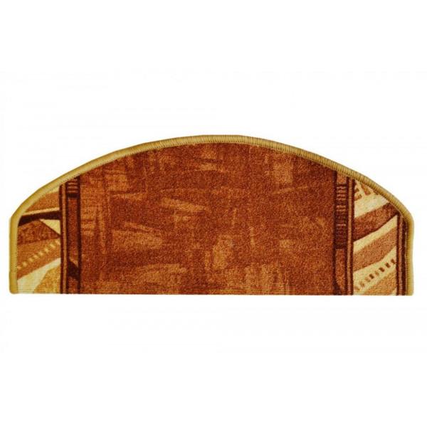 Vopi koberce Nášlapy na schody hnědá Corrido, kusových koberců 28 x 65 cm půlkruh% Béžová - Vrácení do 1 roku ZDARMA vč. dopravy