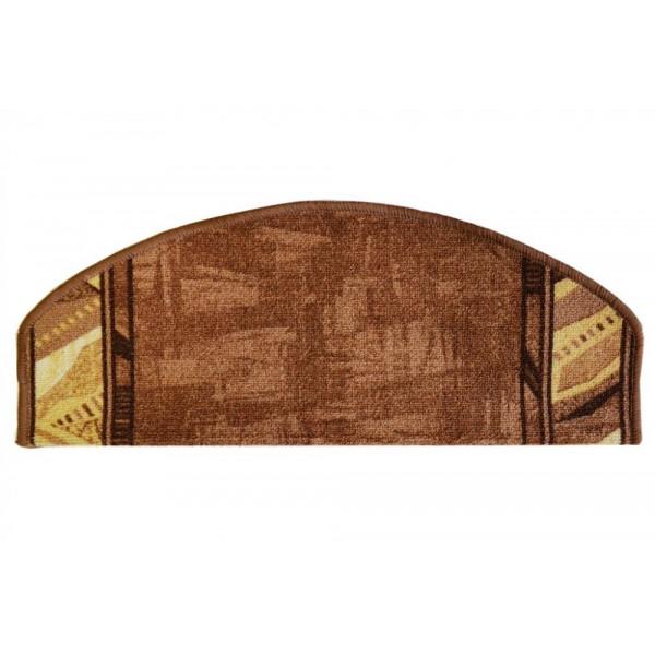 Vopi koberce Nášlapy na schody hnědá Corrido, koberců 28 x 65 cm půlkruh Hnědá - Vrácení do 1 roku ZDARMA