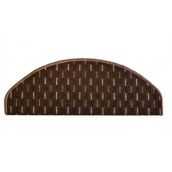 Vopi koberce Nášlapy na schody hnědá Odessa, 28 x 65 cm půlkruh% Hnědá - Vrácení do 1 roku ZDARMA vč. dopravy