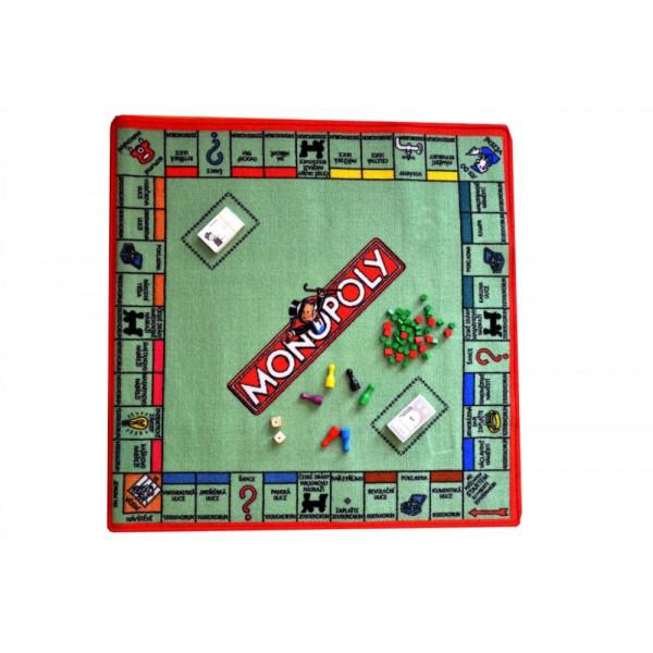 Hrací koberec Monopoly, kusových koberců 92x92% Béžová - Vrácení do 1 roku ZDARMA vč. dopravy
