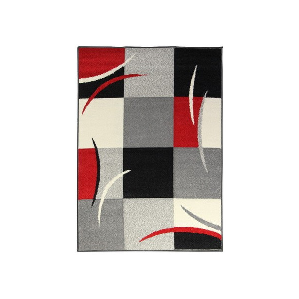 Oriental Weavers koberce Kusový koberec Portland 3064 Z23 Q, koberců 67x120 cm Červená, Šedá - Vrácení do 1 roku ZDARMA