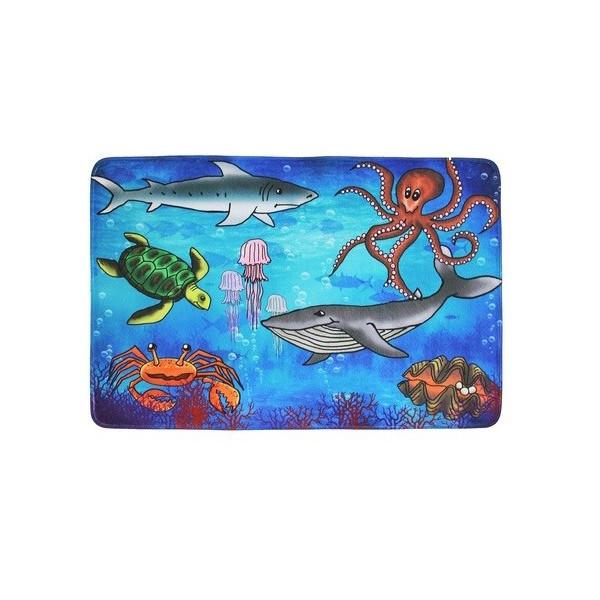 Vopi koberce Kusový koberec Sea world, koberců 76,5x117 Modrá - Vrácení do 1 roku ZDARMA