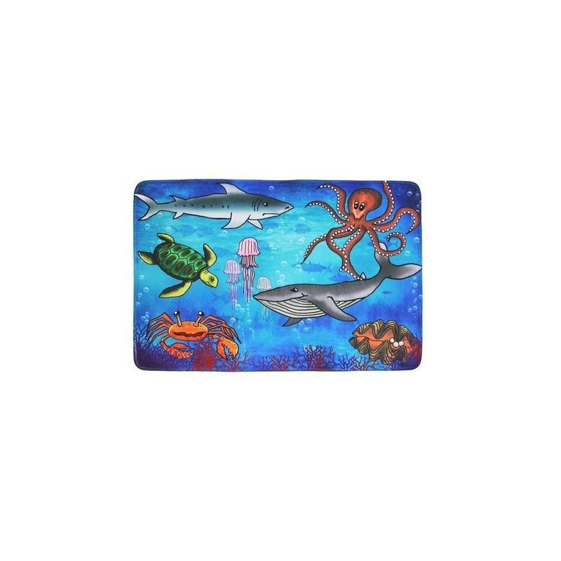 Protiskluzový kusový koberec Sea world