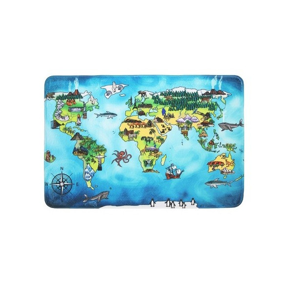 Kusový koberec World map, koberců 76,5x117 Modrá - Vrácení do 1 roku ZDARMA