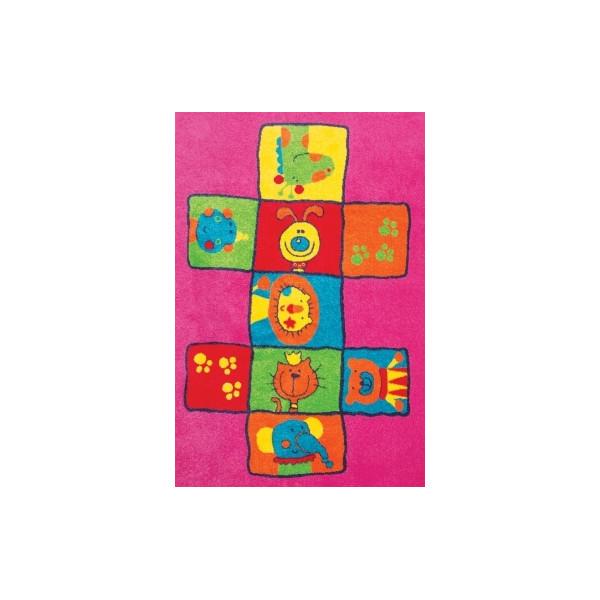 Sintelon koberce Kusový koberec Play 07 VKR, kusových koberců 120x170 cm% Růžová - Vrácení do 1 roku ZDARMA vč. dopravy