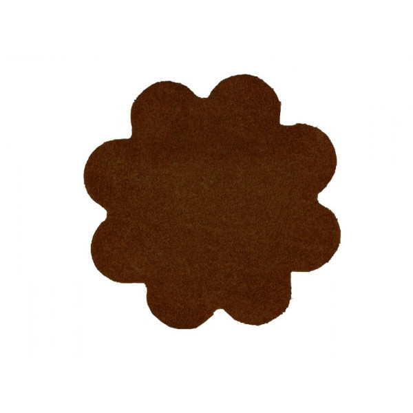 Vopi koberce Kusový koberec Color Shaggy tmavě hnědý kytka, koberců 120x120 cm Hnědá - Vrácení do 1 roku ZDARMA