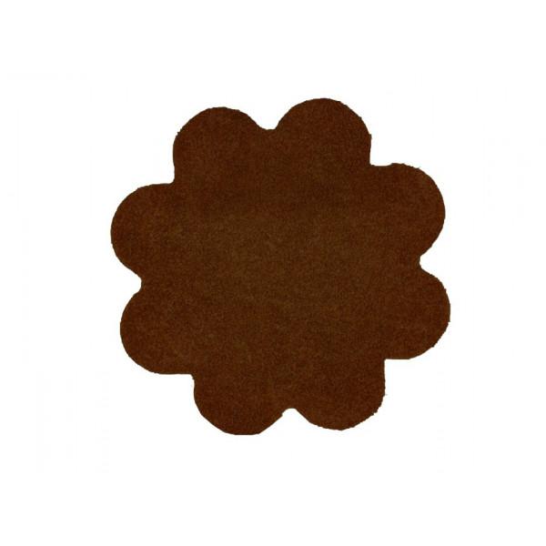 Kusový koberec Color Shaggy tmavě hnědý kytka