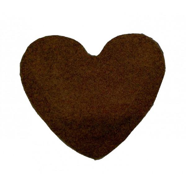 Vopi koberce Kusový koberec Color Shaggy tmavě hnědý srdce, koberců 120x120 cm Hnědá - Vrácení do 1 roku ZDARMA