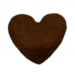 Kusový koberec Color Shaggy tmavě hnědý srdce