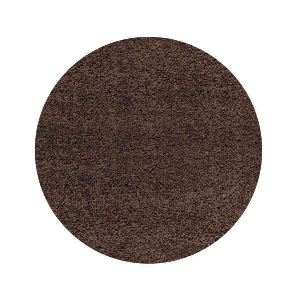 Ayyildiz koberce Kusový koberec Life Shaggy 1500 brown kruh, kusových koberců 200x200 cm kruh% Hnědá - Vrácení do 1 roku ZDARMA vč. dopravy + možnost zaslání vzorku zdarma